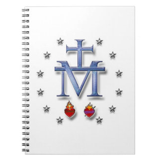 Miraculous Medal Spiral Notebook