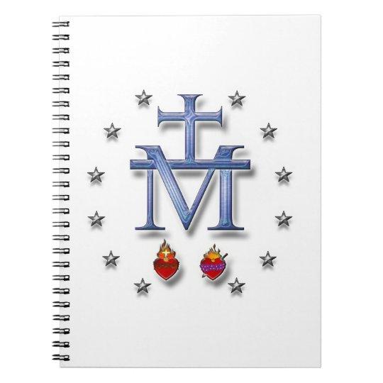 Miraculous Medal Spiral Notebook