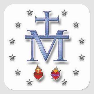 Miraculous Medal Square Sticker