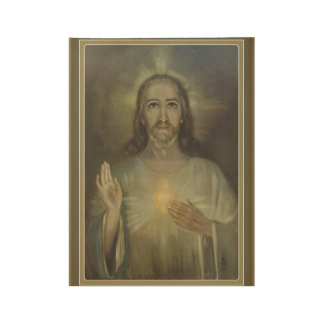 Miraculous Sacred Heart of Jesus Wood Poster GIFT