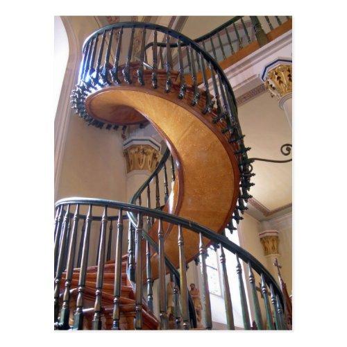 Miraculous Staircase Loretto Chapel Santa Fe Postcard