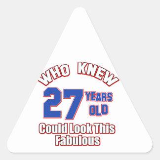 mirada 27 fabulosa pegatina triangular