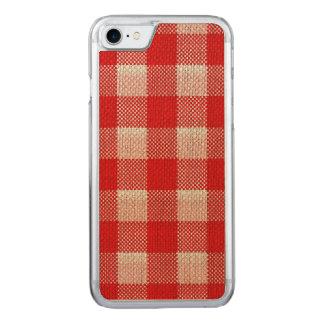 Mirada a cuadros de la arpillera del modelo de la funda para iPhone 7