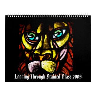 Mirada a través del vitral 2009 calendario de pared