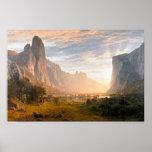 Mirada abajo del valle de Yosemite Impresiones