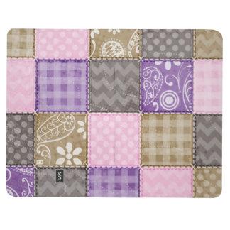 Mirada acolchada rosa clara púrpura y de color t cuadernos grapados