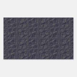 Mirada adaptable de la arruga del azul de acero pegatina rectangular