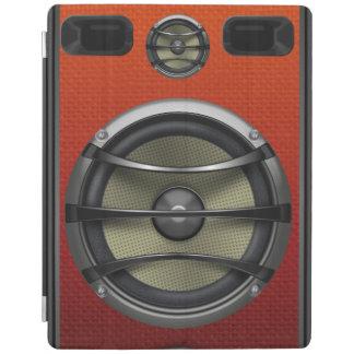 Mirada anaranjada retra del altavoz cover de iPad