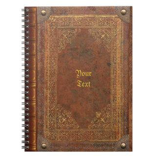 Mirada antigua del libro libretas espirales