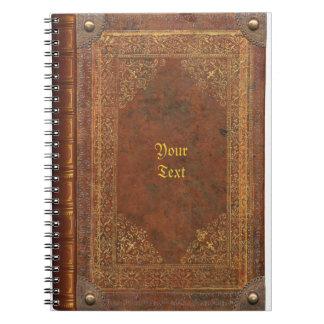 Mirada antigua del libro libro de apuntes