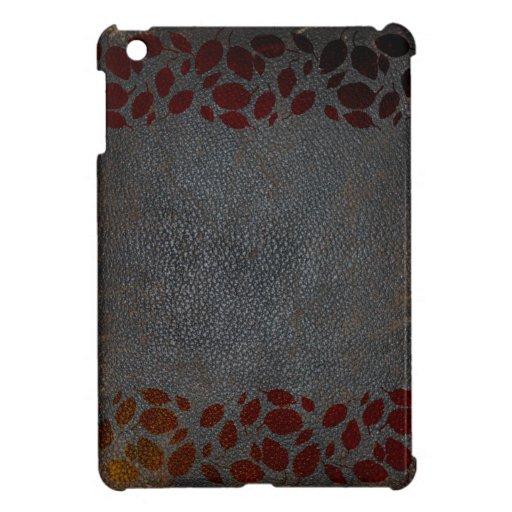 Mirada apenada rústica del cuero de Brown de las h iPad Mini Coberturas