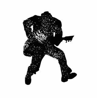 mirada apolillada de salto del guitarrista escultura fotografica