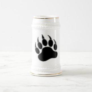 Mirada aseada y limpia de la pata de oso gay - jarra de cerveza