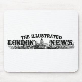 Mirada astuta grabada del logotipo del vintage tapetes de ratón