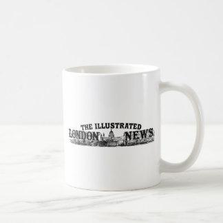 Mirada astuta grabada del logotipo del vintage taza de café