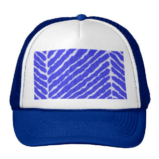 Mirada azul de la lona de las rayas del tigre gorros