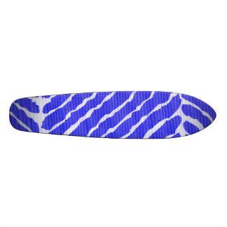 """Mirada azul de la lona de las rayas del tigre patineta 7 1/4"""""""