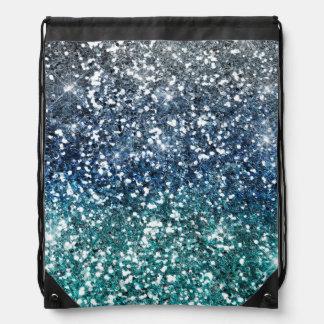 Mirada azul del brillo del trullo de plata mochilas
