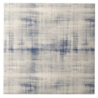 Mirada azul descolorada del dril de algodón azulejo cuadrado grande