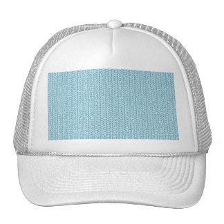 Mirada azul en colores pastel de la armadura gorro de camionero