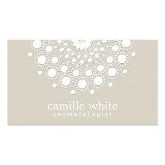 Mirada beige de la textura del círculo blanco tarjetas de visita