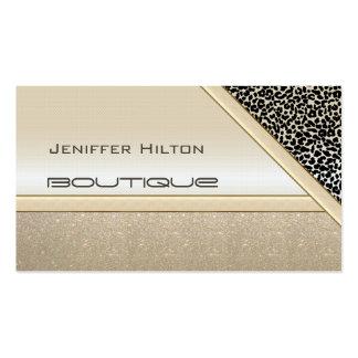 Mirada brillante del estampado leopardo elegante tarjetas de visita