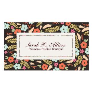 Mirada caprichosa del ante del boutique de la moda plantillas de tarjetas de visita