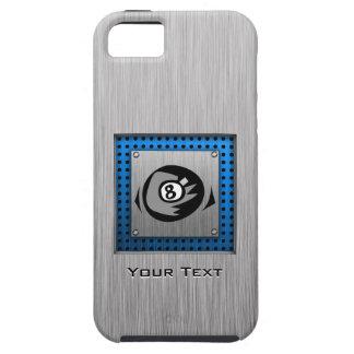 Mirada cepillada del metal; Bola del azul 8 iPhone 5 Funda