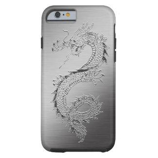 Mirada cepillada dragón del metal del vintage funda de iPhone 6 tough