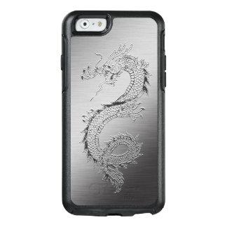Mirada cepillada dragón japonés del metal del funda otterbox para iPhone 6/6s