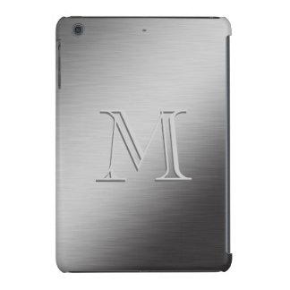 Mirada cepillada monograma personalizada del metal fundas de iPad mini retina