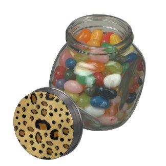Mirada cepillada puntos de la textura de la piel jarras de cristal jelly bely