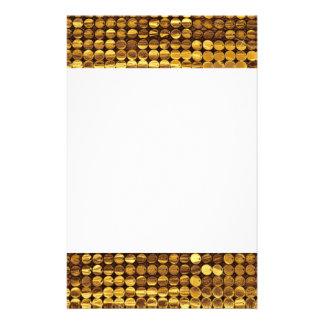 Mirada chispeante de la lentejuela del oro  papeleria de diseño