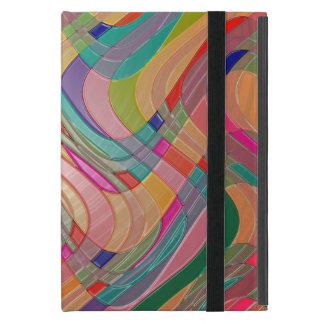 Mirada colorida moderna del vitral del arte iPad mini carcasa