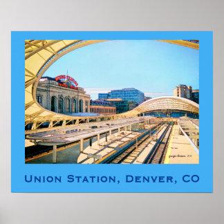 Mirada contemporánea de la estación de la unión, póster