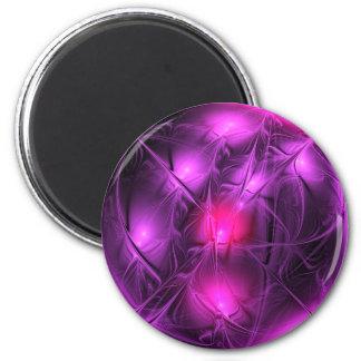 Mirada cristalina (púrpura) imán redondo 5 cm