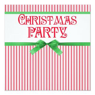 Mirada cuadrada con clase rayada fiesta de Navidad Invitaciones Personales