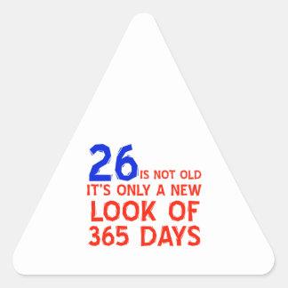 mirada de 26 años fabulosa pegatina triangular
