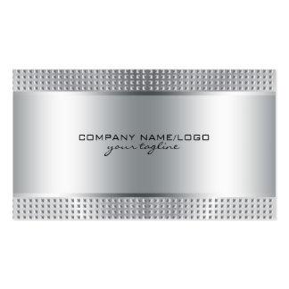 Mirada de acero Diseño-Inoxidable metálica brillan Tarjeta De Negocio