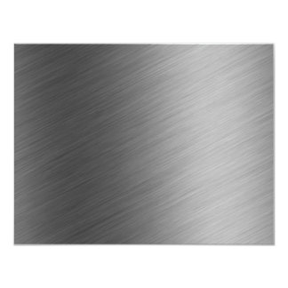 """Mirada de aluminio cepillada del metal invitación 4.25"""" x 5.5"""""""