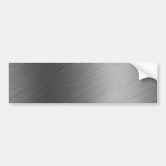 Mirada de aluminio cepillada del metal pegatina para auto