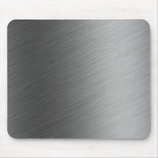 Mirada de aluminio cepillada del metal tapetes de ratones