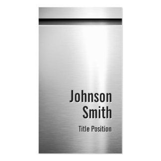 Mirada de aluminio del acero inoxidable del platin tarjetas de visita