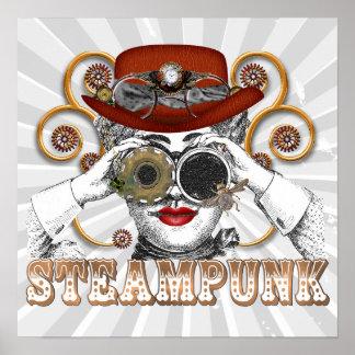 mirada de arte steampunked del collage del steampu