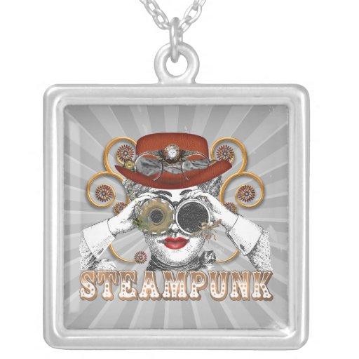 mirada de arte steampunked del collage del steampu colgantes