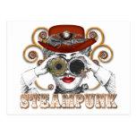 mirada de arte steampunked del collage del steampu postal