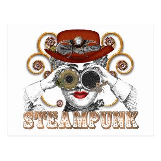mirada de arte steampunked del collage del tarjeta postal