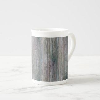 Mirada de bambú curtida taza de porcelana