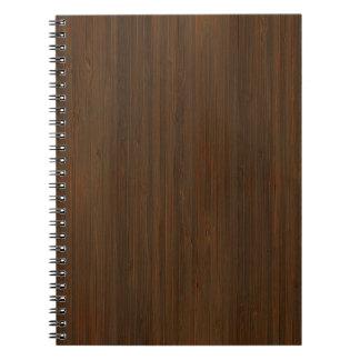 Mirada de bambú de la nuez oscura libretas