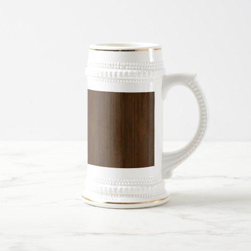 Mirada de bambú de la nuez oscura tazas de café